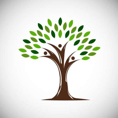 Illustration pour People Life Tree. Vector Illustration - image libre de droit