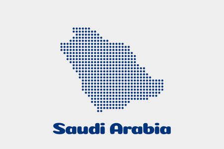 Illustration pour Saudi Arabia dot map. Concept for networking, technology and connections - image libre de droit