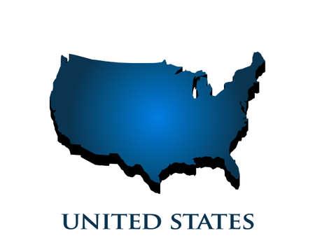 Illustration pour Graphic 3D USA map country in color gradient - image libre de droit