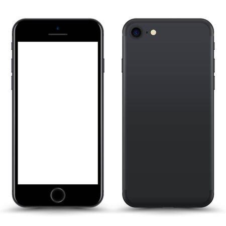 Illustration pour Smartphone with blank Screen. Grey Color. Vector Illustration. - image libre de droit