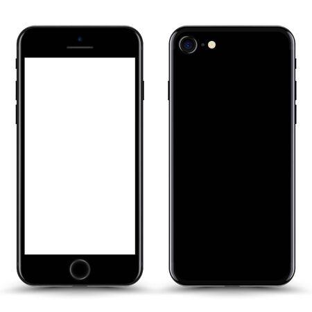 Illustration pour Smartphone with blank Screen. Black Color. Vector Illustration. - image libre de droit
