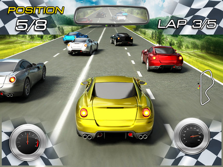 Car racing video game