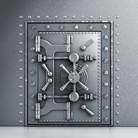Photo pour Metal sturdy vaulted door - image libre de droit