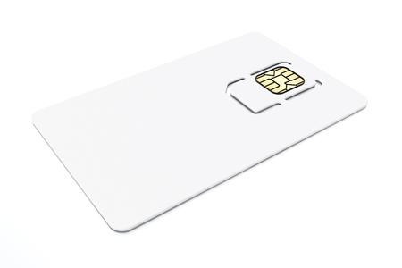 Photo pour SIM card isolated on white background. 3D illustration. - image libre de droit
