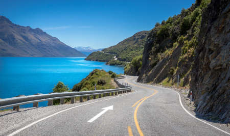 Foto de The Devil's Staircase view point, Queenstown  New Zealand - Imagen libre de derechos