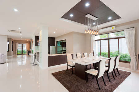 Photo for Modern dining room - Royalty Free Image