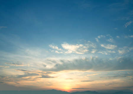 Foto de The vast blue sky and clouds sky  abstract sun - Imagen libre de derechos