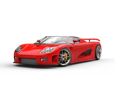 Photo pour Bright red sports car on white background - image libre de droit