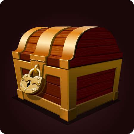 Illustration pour chest icon game element vector - image libre de droit
