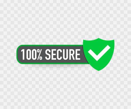 Illustration pour 100 Secure grunge vector icon. Badge or button for commerce website. - image libre de droit