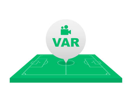 Soccer, football VAR System on the TV screen