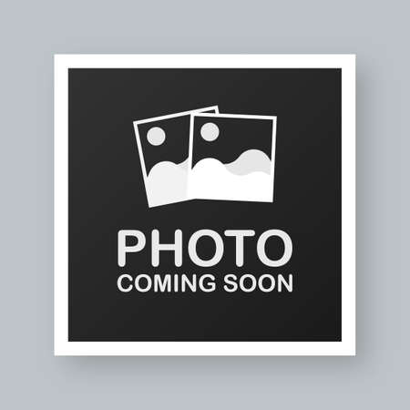 Illustration pour Photo coming soon. Picture frame. Vector stock illustration. - image libre de droit