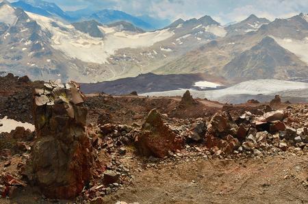 north, caucasus, peak