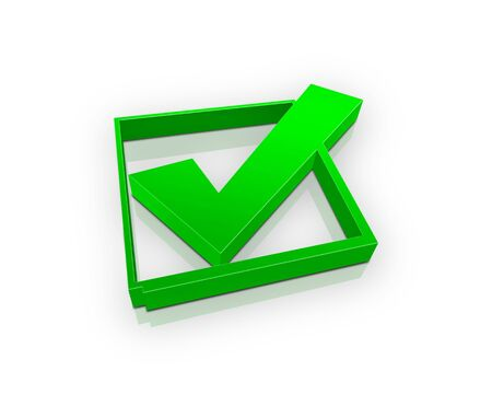 green check box (3d)