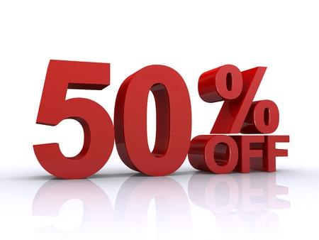 50 percent off discount