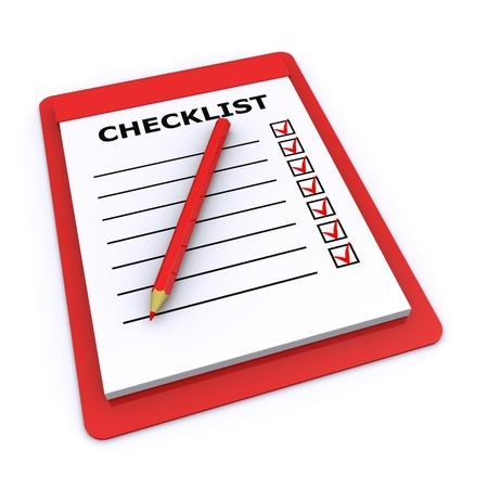 checklist 3d