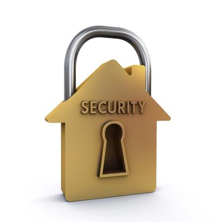 Photo pour house padlock - image libre de droit
