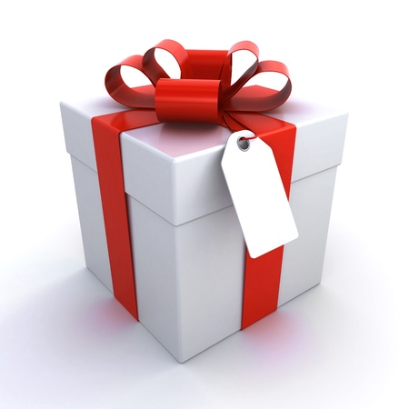 gift box with a price tag