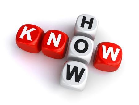 Foto de know how dice crossword  - Imagen libre de derechos