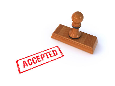 stamp accepted