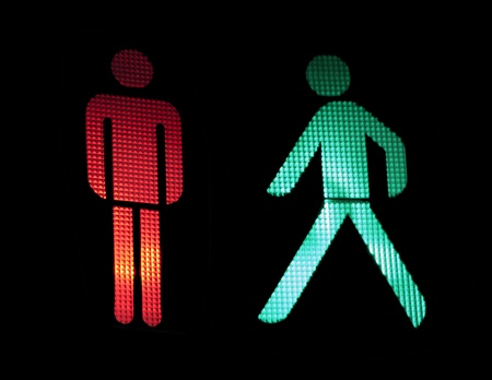 Photo for Traffic light of pedestrians. Isolated black - Royalty Free Image