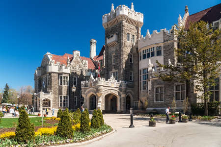 TORONTO, CANADA - MAY 3, 2007: Casa Loma, one of Toronto's top ten tourist attractions. Casa Loma and its Estate Gardens are visited by around 300 thousands visitors each year.