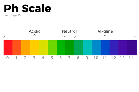 Illustration for The pH scale Universal Indicator. - Royalty Free Image