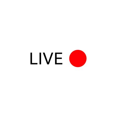 Live stream logo . Online broadcasting icons set