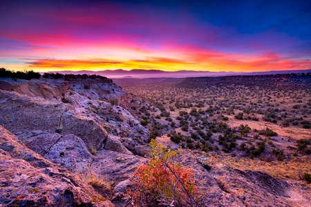 Foto für Golden sunrise over Bandelier National Monument, NM - Lizenzfreies Bild