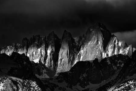 Photo for Mt. Whitney at Sunrise in the Eastern Sierras - Royalty Free Image
