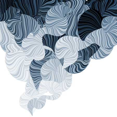 Abstract illustration of wonder smoke. Curving lines