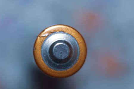 Photo pour macro picture of battery, blurred background - image libre de droit