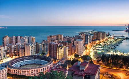 Panorama of Malaga cityscape, Costa del Sol, Spain