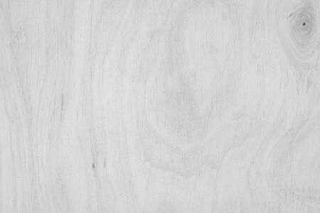 Photo for Table top view of wood texture over white light natural color background. Grey clean grain wooden floor teak panel backdrop with plain board pale detail streak finishing for chic space clear concept. - Royalty Free Image