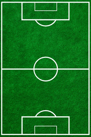 football field  top view with proper markings