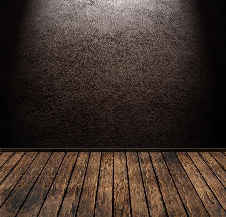 brown vintage leather grunge room