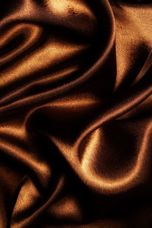 abstract fabric wavy brown silk