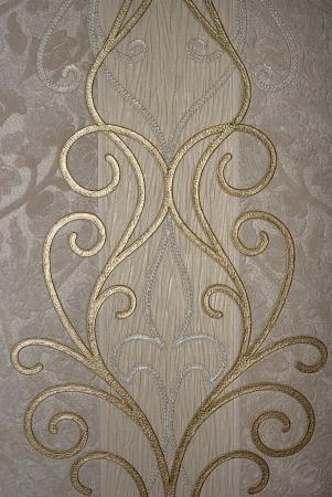 vintage golden floral of wallpaper