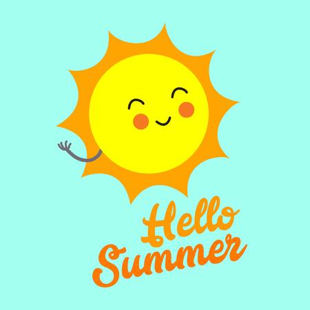 Illustration pour Hello summer 2 - image libre de droit