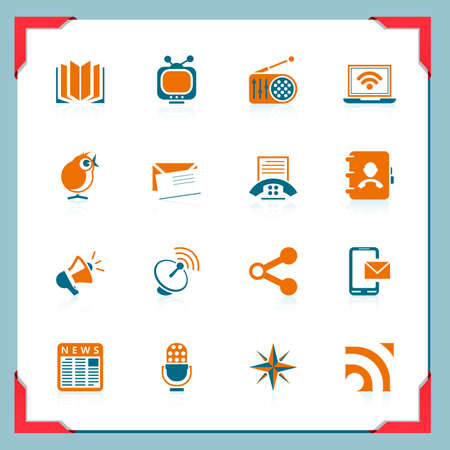 Communication icons | In a frame series