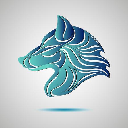Ilustración de Wolf head profile logo. Stock vector for your design - Imagen libre de derechos