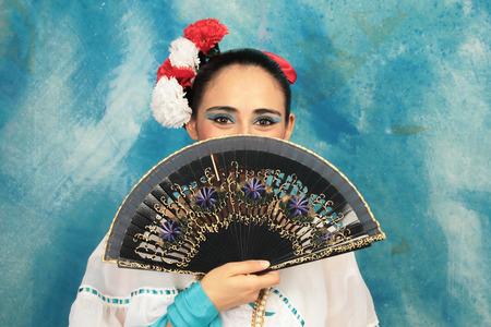Veracruz traditional costume dancer