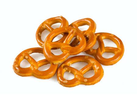 Foto de pretzels isolated on white background - Imagen libre de derechos