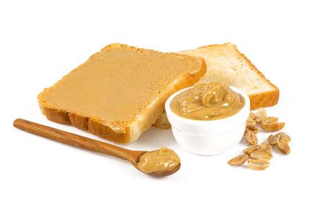 Foto de peanut butter isolated on white - Imagen libre de derechos