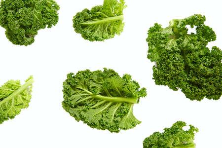 Photo for fresh kale isolated on white background - Royalty Free Image