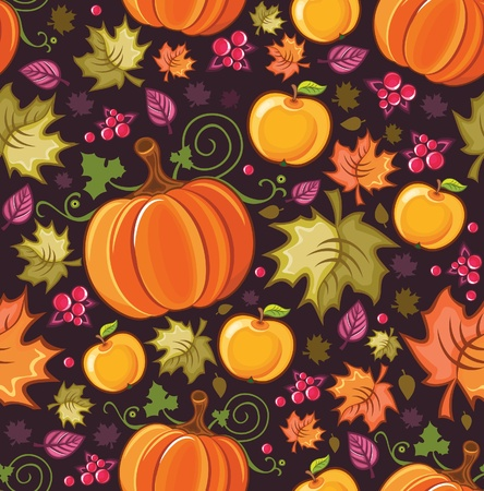 Seamless autumnal background 2