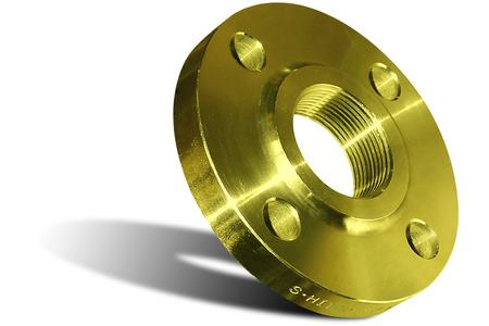 Photo pour Yellow welding flange - image libre de droit