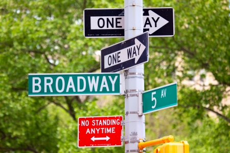 5th avenue and Broadway Street Signs, Manhattan, New York