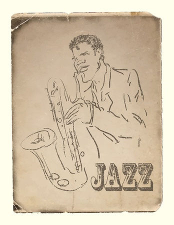 the saxophone player. vector eps8