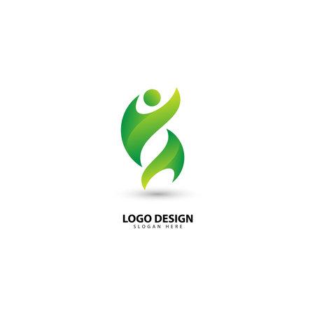 Illustration pour People Communication, Community and Teamwork Logo Design - image libre de droit